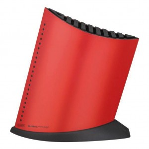 Ship Shape Knife Block with 10 Slots Red