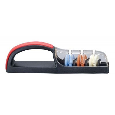 MinoSharp Plus 3 Ceramic Water Sharpener - Black/Red